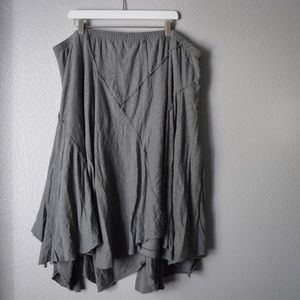Mossimo 3x Layered Asymmetrical Skirt Grey